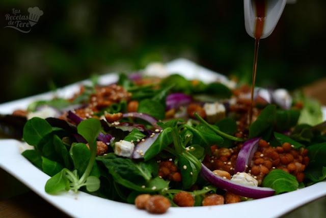 Ensalada de brotes y lentejas receta casera 04