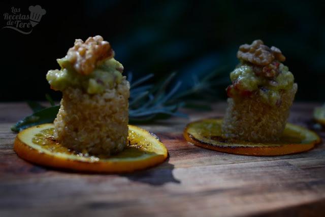 Maravillosa ensalada de quinoa, nueces y guacamole tererecetas 02