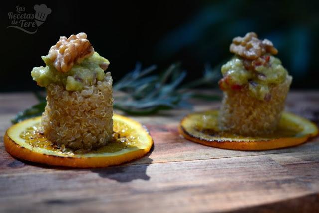 Maravillosa ensalada de quinoa, nueces y guacamole tererecetas 04