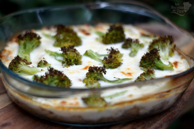 Brócolis con bachamel y atún al horno tererecetas 01
