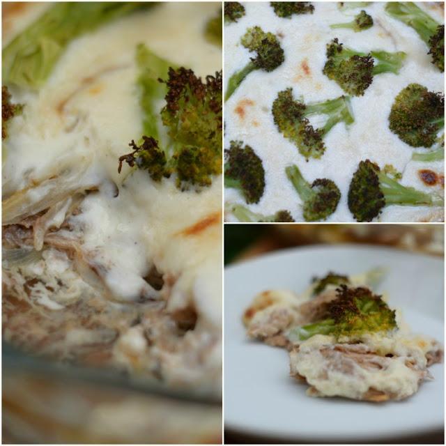 Brócolis con bachamel y atún al horno tererecetas 02
