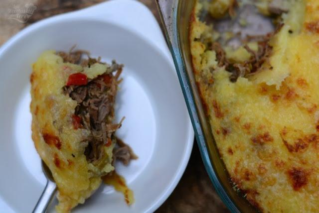 Molde de patatas y carne mechada 04
