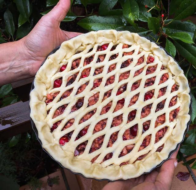 pastel de arándanos rojos 03