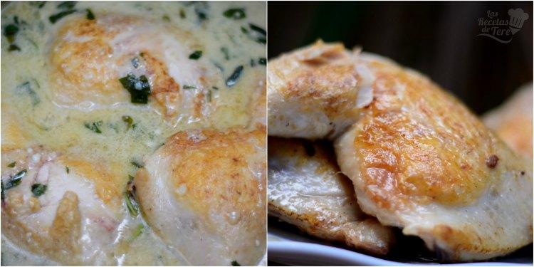 Pollo al coco y albahaca, receta casera